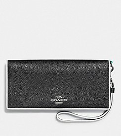 COACH SLIM WALLET IN TRICOLOR EDGESTAIN LEATHER