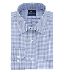 Eagle® Men's Checked Spread Collar Long Sleeve Dress Shirt
