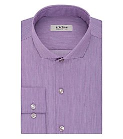 Kenneth Cole REACTION® Men's Text Solid Long Sleeve Dress Shirt
