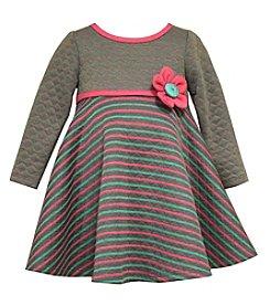Bonnie Jean® Girls' 2T-4T Quilted Stripe Dress