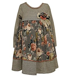 Bonnie Jean® Girls' 4-6X Long Sleeve Floral Dress
