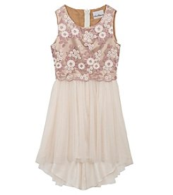 Rare Editions® Girls' 7-16 Floral Embroidered High-Low Dress