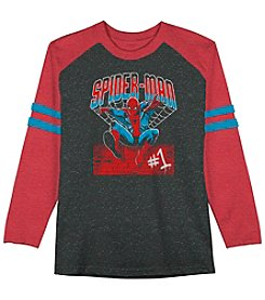 Spider-Man® Boys' 4-7 Long Sleeve #1 Spider-Man Raglan Tee