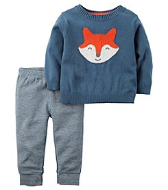Carter's® Baby Boys 2-Piece Fox Sweater And Pants Set