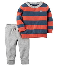 Carter's® Baby Boys' 2-Piece Striped Sweater And Pants Set