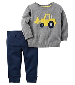 Carter's® Baby Boys 2-Piece Construction Sweater And Pants Set