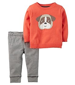 Carter's® Baby Boys' 2-Piece Bulldog Sweater And Pants Set