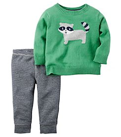 Carter's® Baby Boys 2-Piece Raccoon Sweater And Pants Set