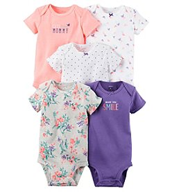 Carter's® Baby Girls' 5-Pack Made You Smile Bodysuits