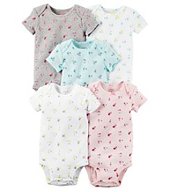 Carter's® Baby Girls' 5-Pack Floral Bodysuits