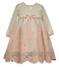 Bonnie Jean® Baby Girls' Floral Lace Sweater Dress