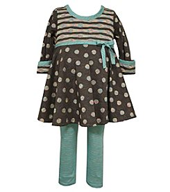 Bonnie Jean® Baby Girls' 2-Piece Dotted Dress And Leggings Set