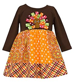 Bonnie Jean® Baby Girls' Ribbon Turkey Applique Dress