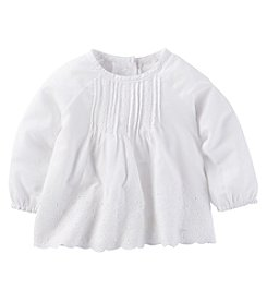 OshKosh B'Gosh® Baby Girls' Long Sleeve Eyelet Top