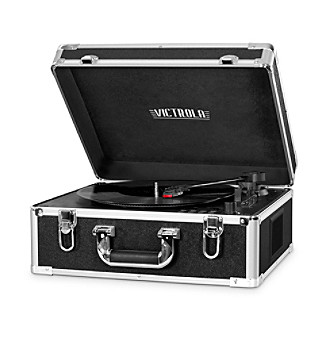 Victrola® Suitcase Record Player With CD Player And Blue