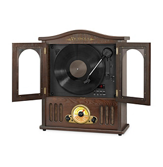 Victrola® Wooden Wall-Mount Nostalgic Record Player With