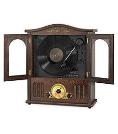 Victrola® Wooden Wall-Mount Nostalgic Record Player With Turntable, CD And Bluetooth