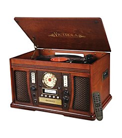 Victrola 7-In-1 Aviator Wooden Nostalgic Record Player with Bluetooth and Digital CD Encoding