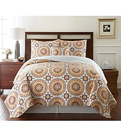 LivingQuarters New Haven Spice Printed Quilt Collection
