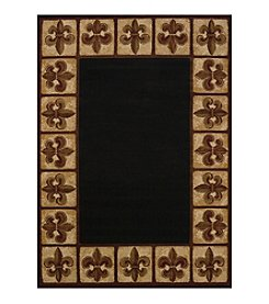 United Weavers China Garden Collection Patchwork Fleur de Lys Runner