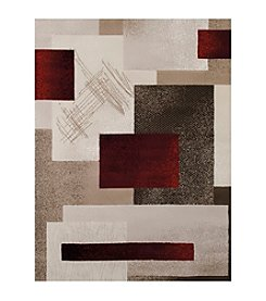 United Weavers China Garden Collection Contempo Garnet Runner