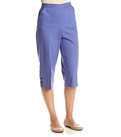 Alfred Dunner® Petites' Solid Color Capris