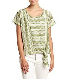 Alfred Dunner® Petites' Textured Split Knit Top
