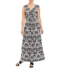 Rafaella® Plus Size Ikat Print Dress