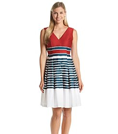 Anne Klein® Pleated Fit And Flare Dress