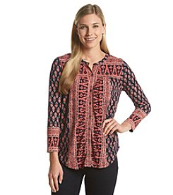 Lucky Brand® Woodblock Top
