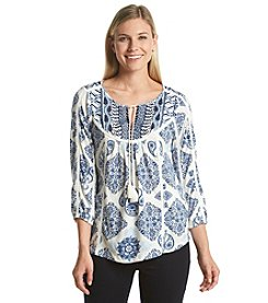 Lucky Brand® Embroidered Peasant Top