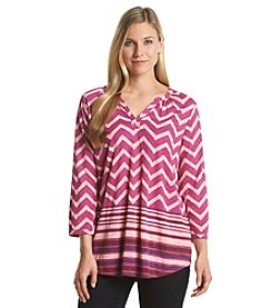 Lucky Brand® Chevron Printed Top