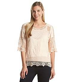 Democracy Lace Crochet Top