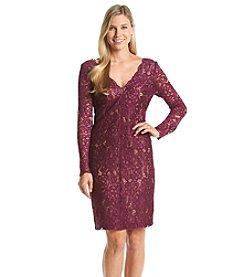 Vera Wang® Lace Sheath Dress