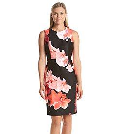 Calvin Klein Floral Print Scuba Dress