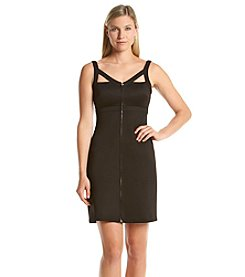 Calvin Klein Strapped Zip Sheath Dress