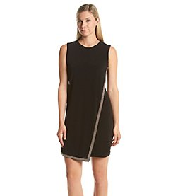 Calvin Klein Embellished Hem Overlay Dress