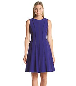 Calvin Klein Line Detail Fit And Flare Dress