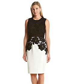 Calvin Klein Lace Top Sheath Dress