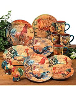 Certified International by Art Licensing Rustic Rooster Dinnerware Collection