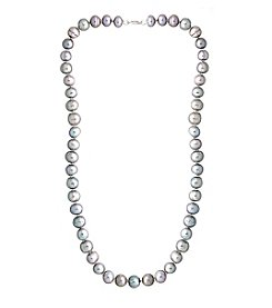 Designs by FMC Hand Knotted Grey Freshwater Pearl Necklace