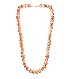 Designs by FMC Hand Knotted Peach Freshwater Pearl Necklace