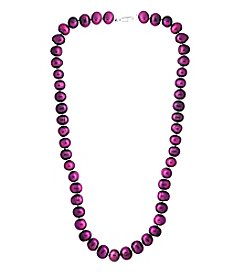 Designs by FMC Hand Knotted Cranberry Freshwater Pearl Necklace