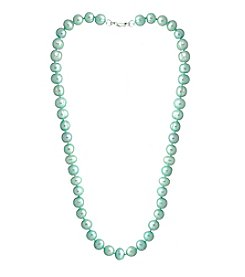 Designs by FMC Hand Knotted Mint Freshwater Pearl Necklace