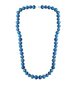 Designs by FMC Hand Knotted Blue Freshwater Pearl Necklace