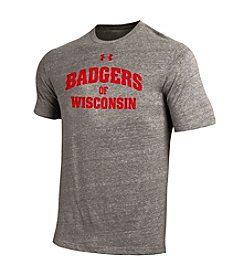 Under Armour® NCAA® Wisconsin Badgers Men's On Field Short Sleeve Tee