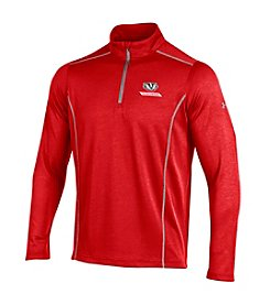 Under Armour® NCAA® Wisconsin Badgers Men's Validate Quarter Zip Pullover