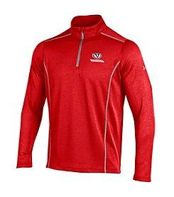 Under Armour® NCAA® Wisconsin Badgers Men's Validate Quarter Zip Pullover