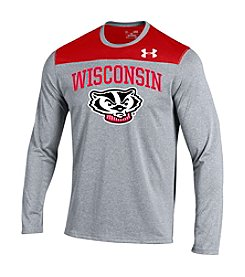 Under Armour® NCAA® Wisconsin Badgers Men's Bucky Long Sleeve Tee