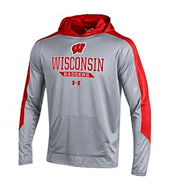 Under Armour® NCAA® Wisconsin Badgers Men's Foundation Long Sleeve Hoodie